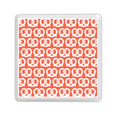 Coral Pretzel Illustrations Pattern Memory Card Reader (square)