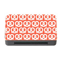 Coral Pretzel Illustrations Pattern Memory Card Reader With Cf