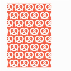 Coral Pretzel Illustrations Pattern Small Garden Flag (Two Sides)