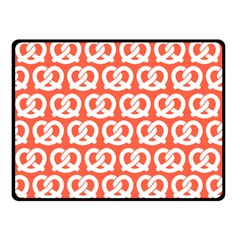 Coral Pretzel Illustrations Pattern Double Sided Fleece Blanket (Small)