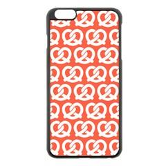 Coral Pretzel Illustrations Pattern Apple iPhone 6 Plus/6S Plus Black Enamel Case
