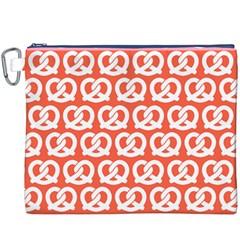 Coral Pretzel Illustrations Pattern Canvas Cosmetic Bag (XXXL)