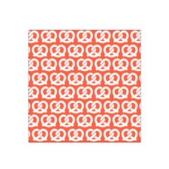 Coral Pretzel Illustrations Pattern Satin Bandana Scarf