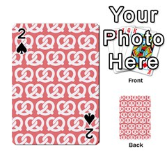 Chic Pretzel Illustrations Pattern Playing Cards 54 Designs