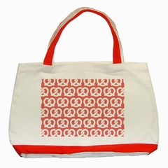 Chic Pretzel Illustrations Pattern Classic Tote Bag (Red)