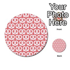 Chic Pretzel Illustrations Pattern Multi Purpose Cards (round)