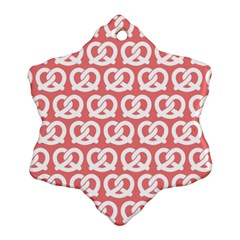 Chic Pretzel Illustrations Pattern Ornament (snowflake)