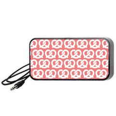 Chic Pretzel Illustrations Pattern Portable Speaker (black)