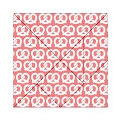 Chic Pretzel Illustrations Pattern Acrylic Tangram Puzzle (6  x 6 )