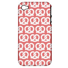 Chic Pretzel Illustrations Pattern Apple iPhone 4/4S Hardshell Case (PC+Silicone)