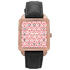 Chic Pretzel Illustrations Pattern Rose Gold Watches