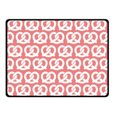 Chic Pretzel Illustrations Pattern Double Sided Fleece Blanket (Small)