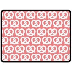 Chic Pretzel Illustrations Pattern Double Sided Fleece Blanket (Large)