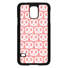Chic Pretzel Illustrations Pattern Samsung Galaxy S5 Case (Black)