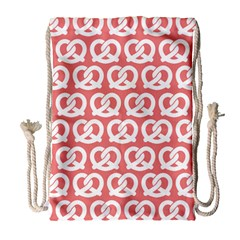 Chic Pretzel Illustrations Pattern Drawstring Bag (large)