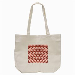 Trendy Pretzel Illustrations Pattern Tote Bag (Cream)