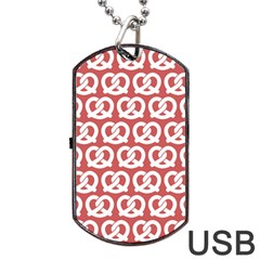 Trendy Pretzel Illustrations Pattern Dog Tag Usb Flash (two Sides)