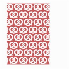 Trendy Pretzel Illustrations Pattern Large Garden Flag (Two Sides)