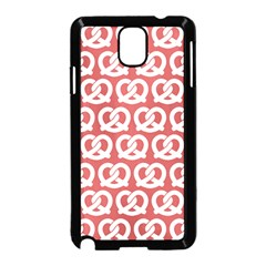 Trendy Pretzel Illustrations Pattern Samsung Galaxy Note 3 Neo Hardshell Case (black)