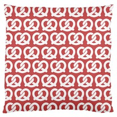 Trendy Pretzel Illustrations Pattern Large Flano Cushion Cases (Two Sides)