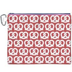 Trendy Pretzel Illustrations Pattern Canvas Cosmetic Bag (XXXL)