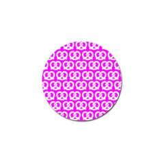Pink Pretzel Illustrations Pattern Golf Ball Marker