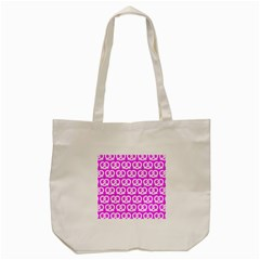 Pink Pretzel Illustrations Pattern Tote Bag (Cream)