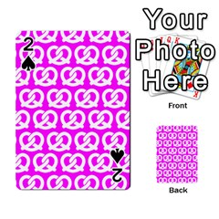 Pink Pretzel Illustrations Pattern Playing Cards 54 Designs