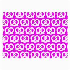 Pink Pretzel Illustrations Pattern Large Glasses Cloth