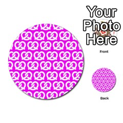Pink Pretzel Illustrations Pattern Multi-purpose Cards (Round)