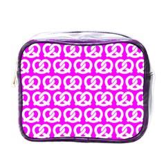 Pink Pretzel Illustrations Pattern Mini Toiletries Bags