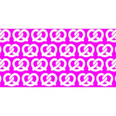 Pink Pretzel Illustrations Pattern You Are Invited 3d Greeting Card (8x4)