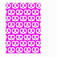 Pink Pretzel Illustrations Pattern Large Garden Flag (Two Sides)
