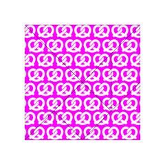 Pink Pretzel Illustrations Pattern Acrylic Tangram Puzzle (4  x 4 )