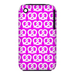 Pink Pretzel Illustrations Pattern Apple iPhone 3G/3GS Hardshell Case (PC+Silicone)