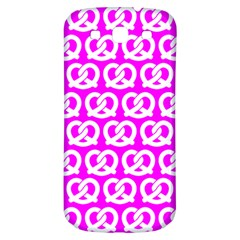 Pink Pretzel Illustrations Pattern Samsung Galaxy S3 S III Classic Hardshell Back Case