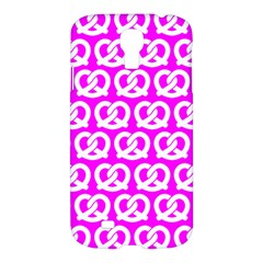 Pink Pretzel Illustrations Pattern Samsung Galaxy S4 I9500/I9505 Hardshell Case