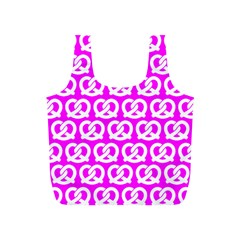 Pink Pretzel Illustrations Pattern Full Print Recycle Bags (S)