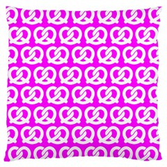 Pink Pretzel Illustrations Pattern Large Flano Cushion Cases (Two Sides)