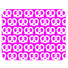 Pink Pretzel Illustrations Pattern Double Sided Flano Blanket (medium)