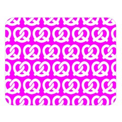 Pink Pretzel Illustrations Pattern Double Sided Flano Blanket (Large)