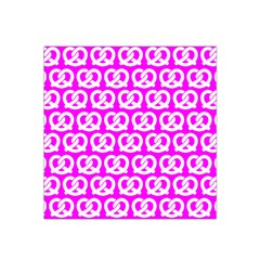 Pink Pretzel Illustrations Pattern Satin Bandana Scarf