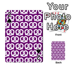 Purple Pretzel Illustrations Pattern Playing Cards 54 Designs