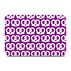 Purple Pretzel Illustrations Pattern Plate Mats