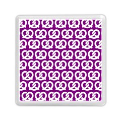 Purple Pretzel Illustrations Pattern Memory Card Reader (square)