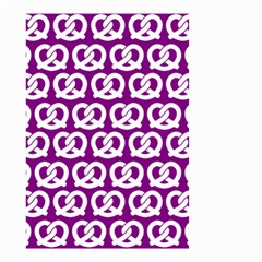 Purple Pretzel Illustrations Pattern Small Garden Flag (Two Sides)