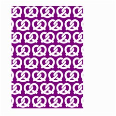 Purple Pretzel Illustrations Pattern Large Garden Flag (Two Sides)