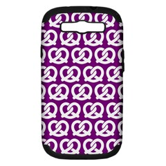 Purple Pretzel Illustrations Pattern Samsung Galaxy S III Hardshell Case (PC+Silicone)