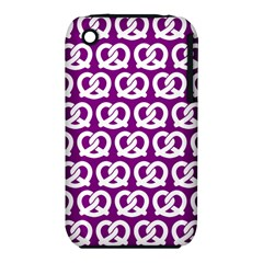 Purple Pretzel Illustrations Pattern Apple iPhone 3G/3GS Hardshell Case (PC+Silicone)