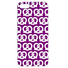 Purple Pretzel Illustrations Pattern Apple iPhone 5 Hardshell Case with Stand
